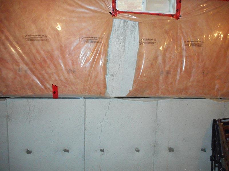 Basement foundation crack repairs for leaking basement walls for Poured concrete foundation walls